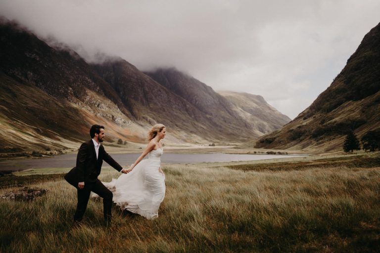 elopement in Glencoe Valley Scotland