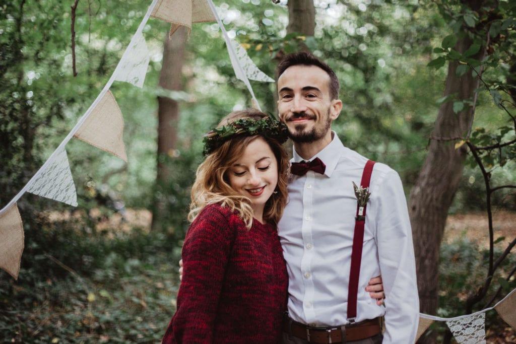 Mariage bohème automne