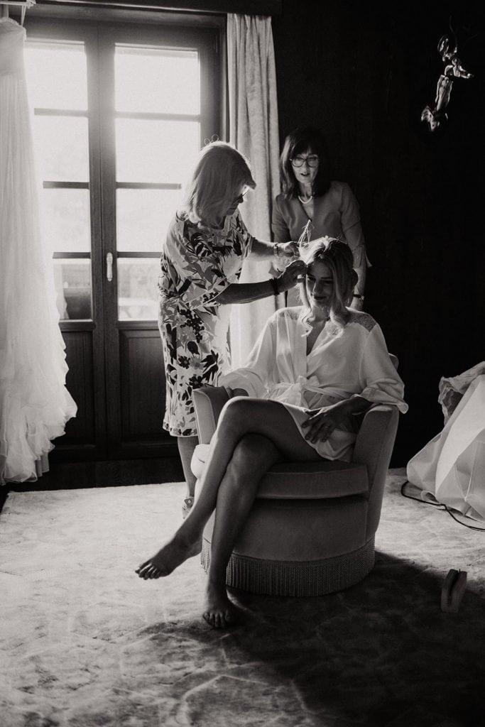 préparatifs de la mariée chamonix