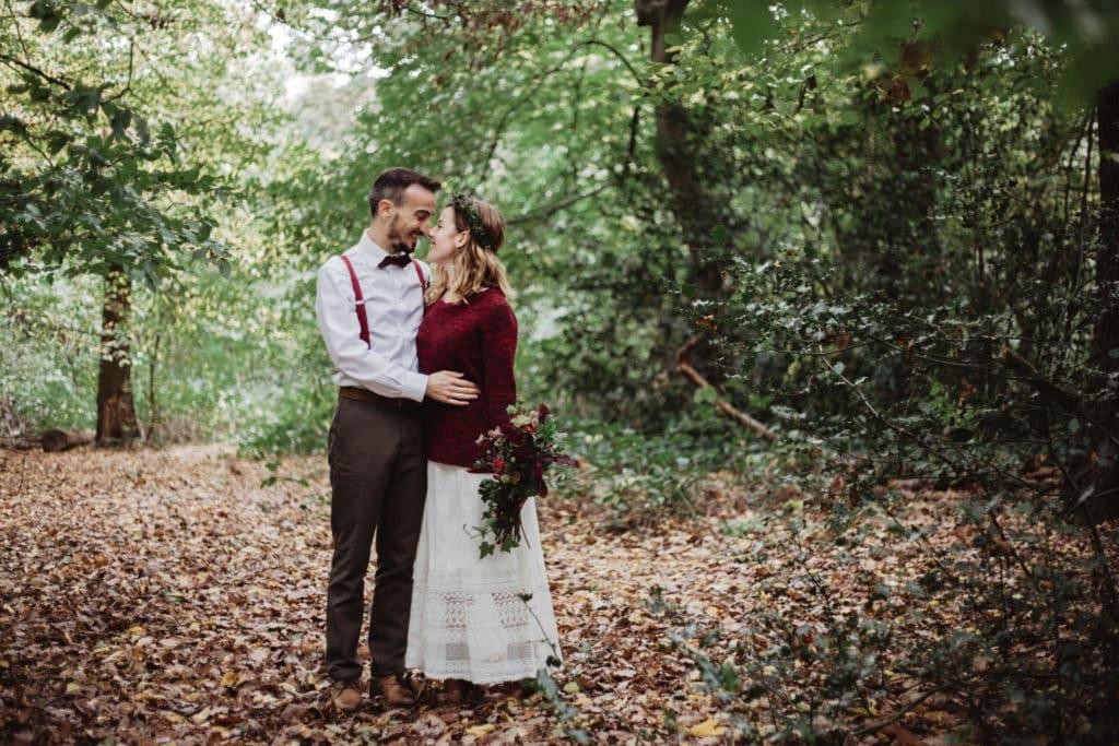 mariage bohème foret londres