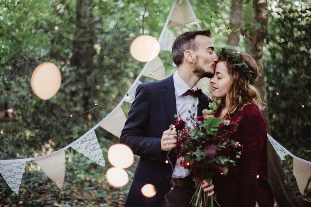mariage bohème foret