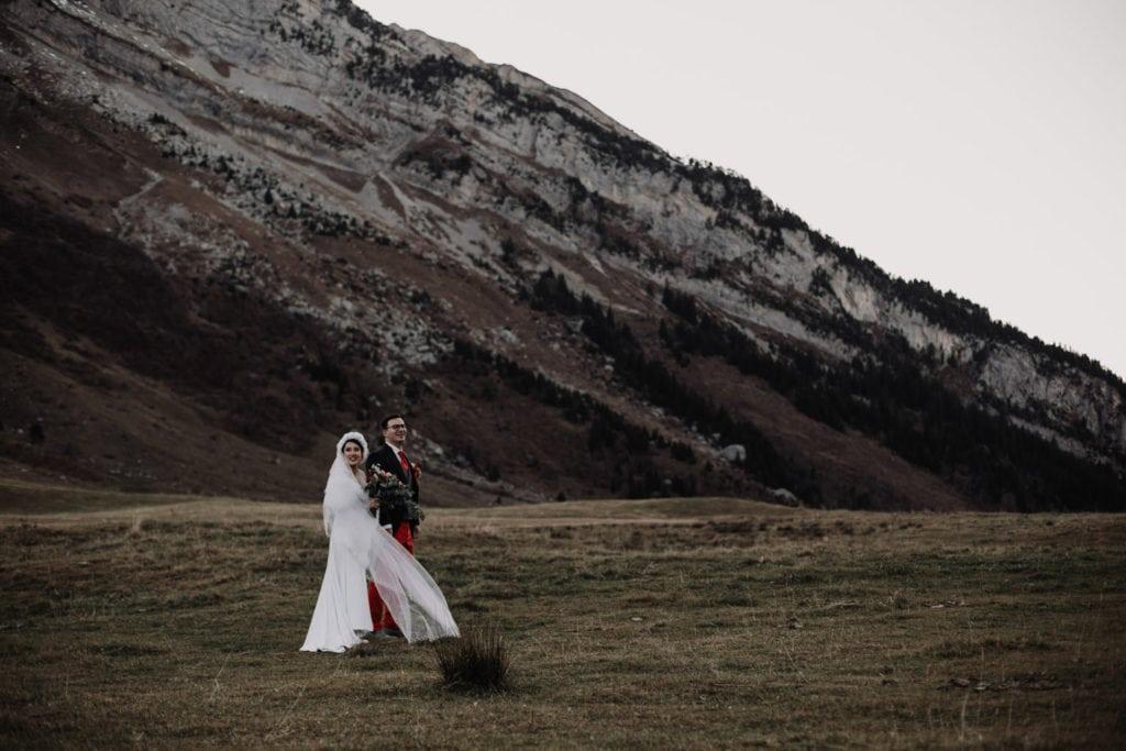 mariage bohème col des Aravis