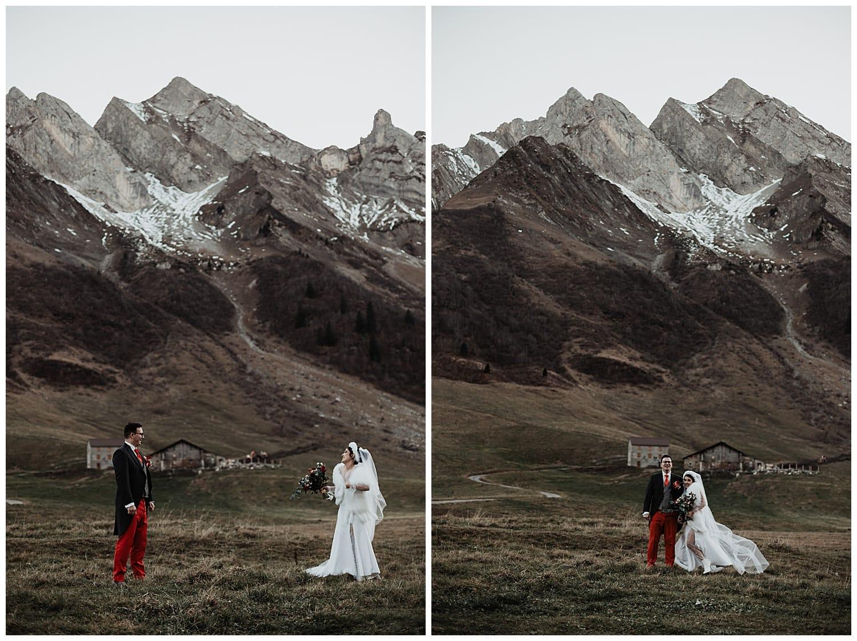Mariage bohème montagne la Clusaz