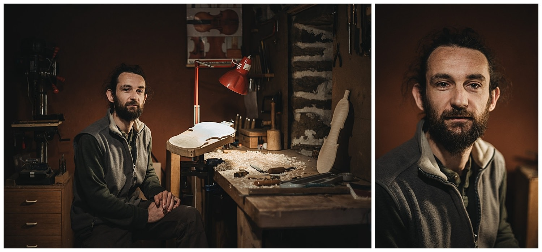 portrait artisan luthier ardèche