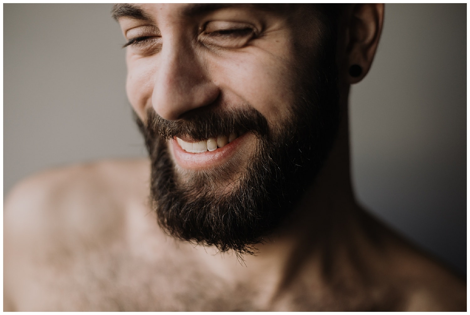 portrait homme barbe