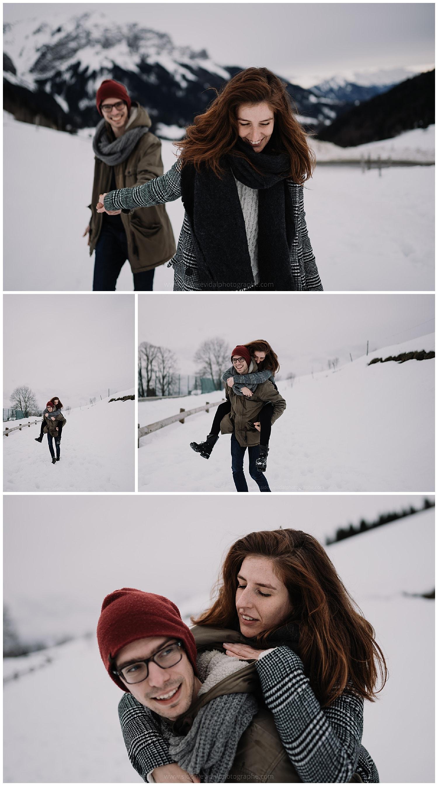 séance couple a la montagne