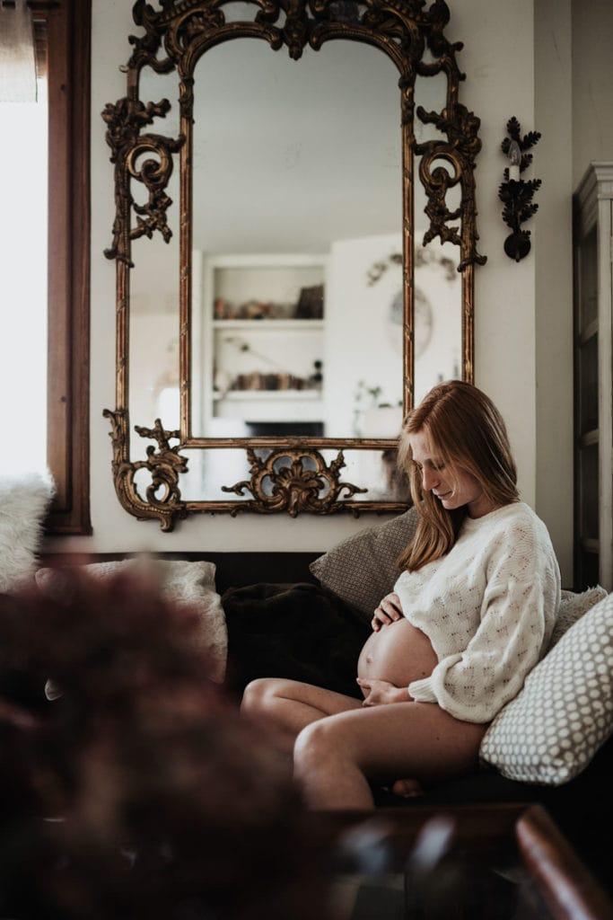 femme enceinte vintage