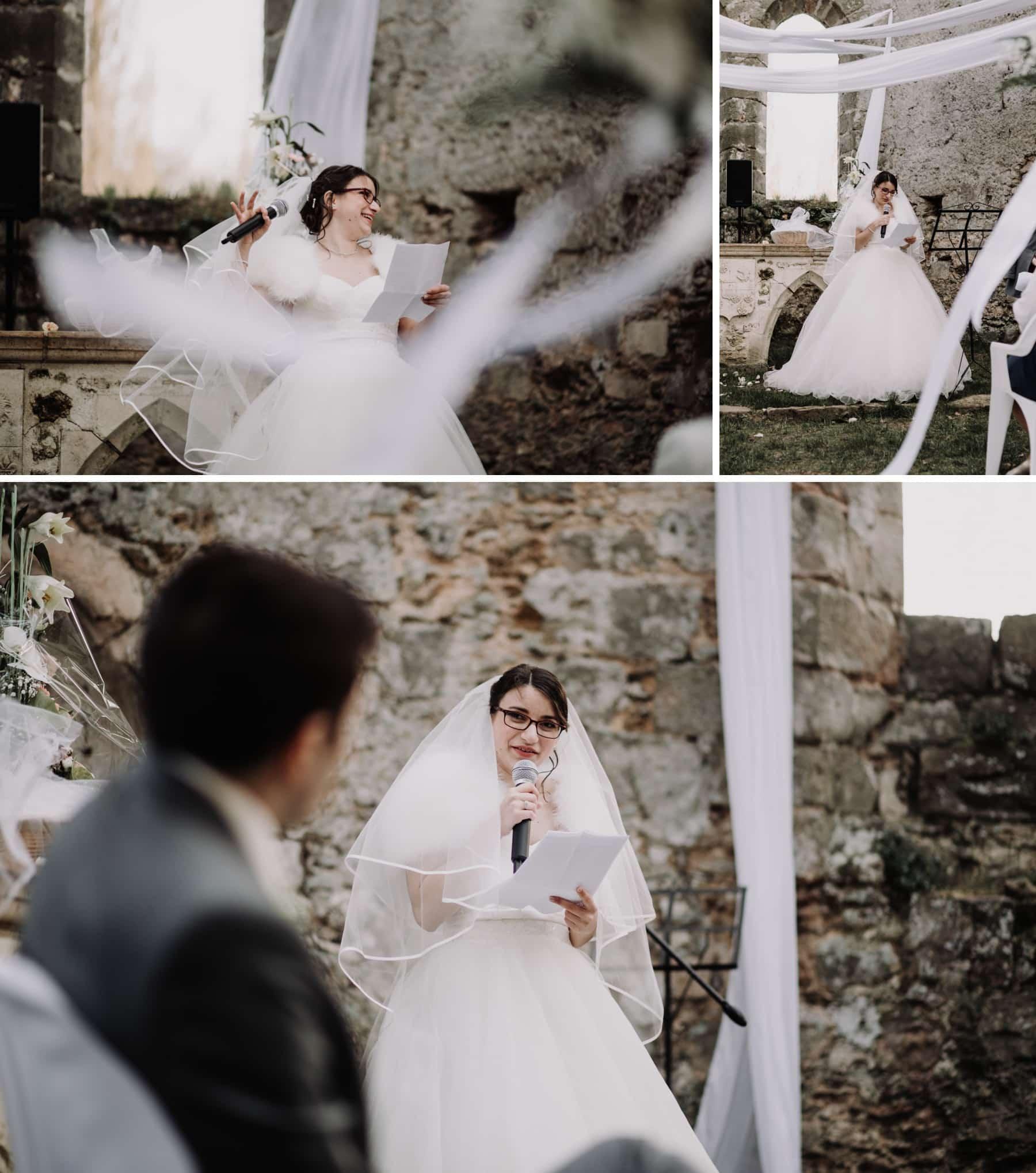 discours de mariée cérémonie