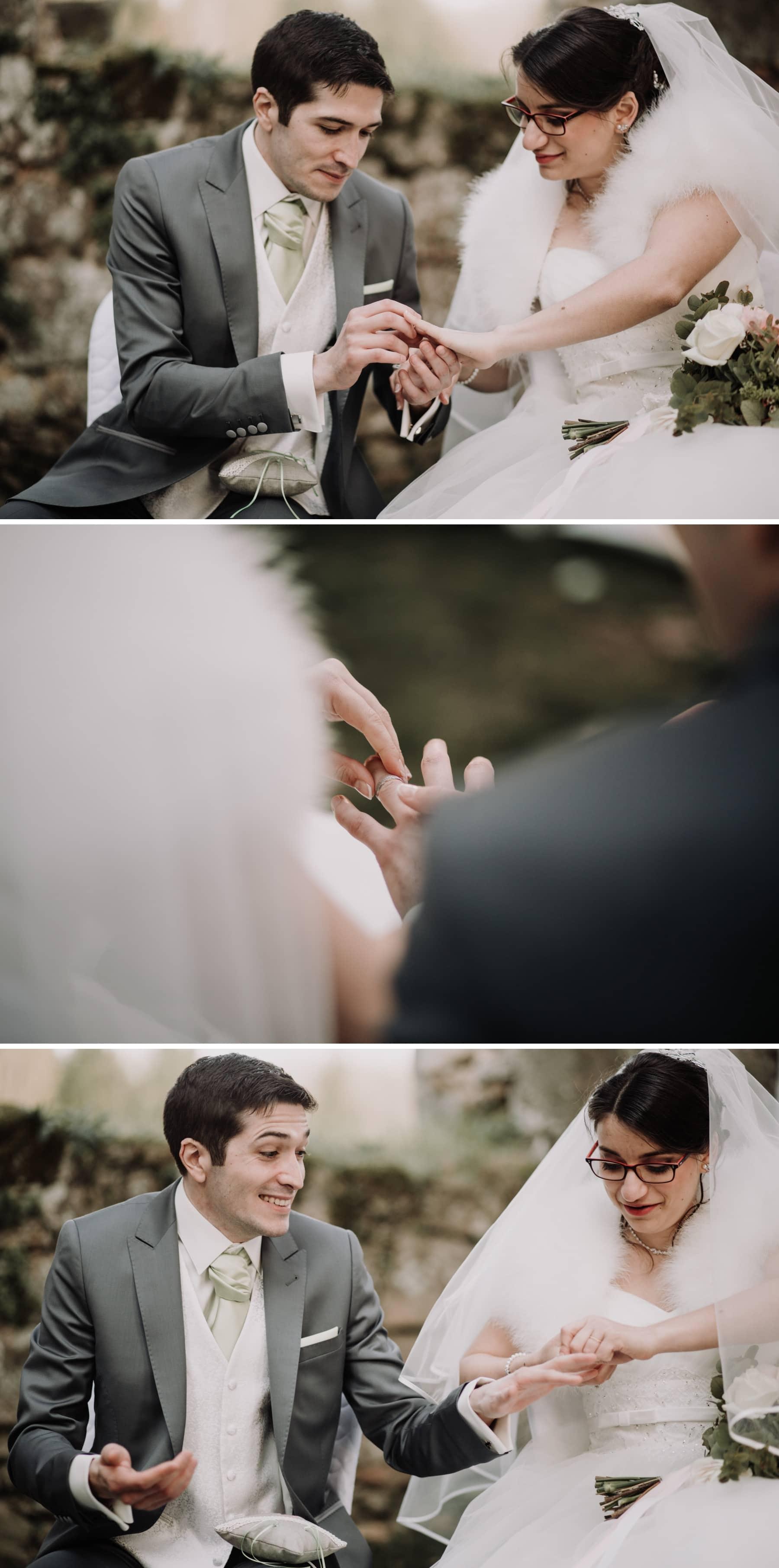 échange des alliances mariage