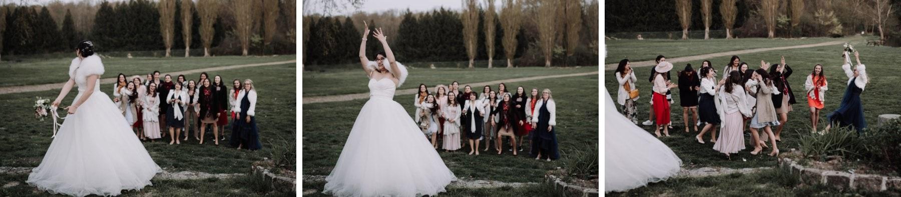 lacer de bouquet mariée