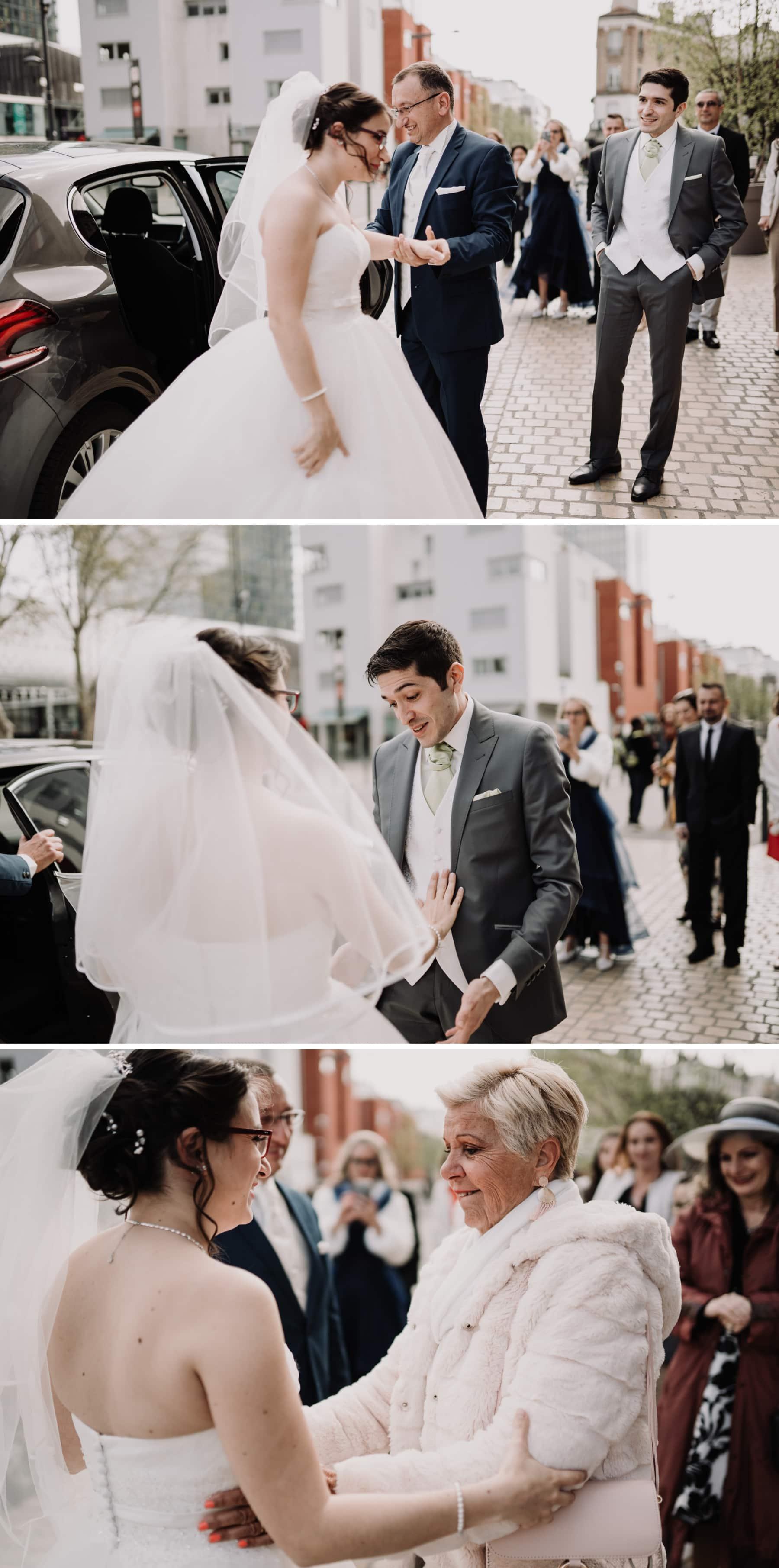 arrivée de la mariée mairie