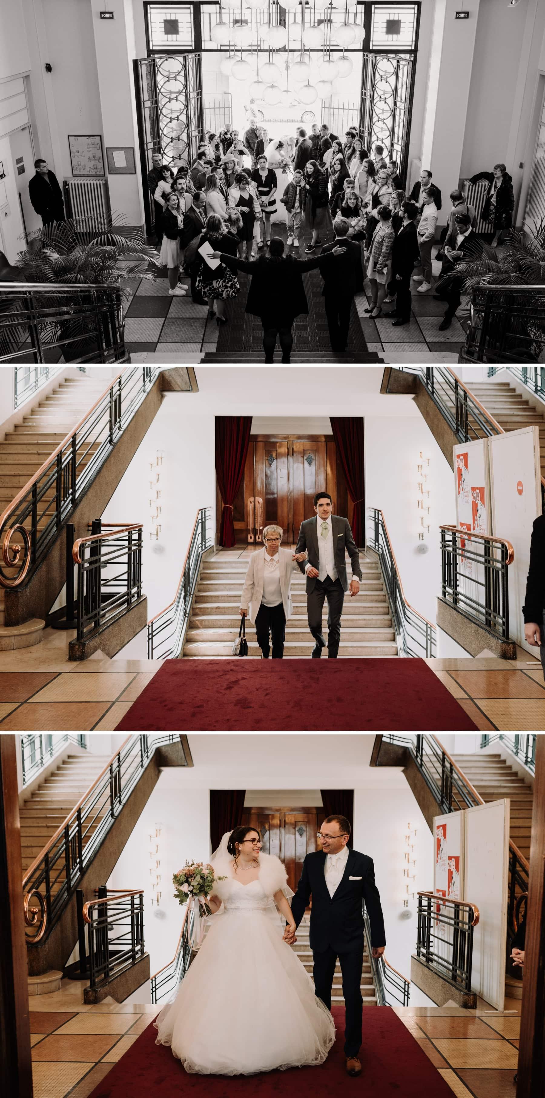entrée des mariés mairie du 18 eme
