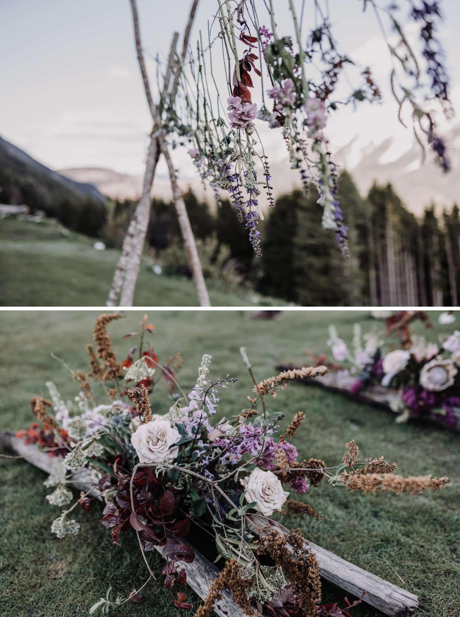 détails floraux mariage
