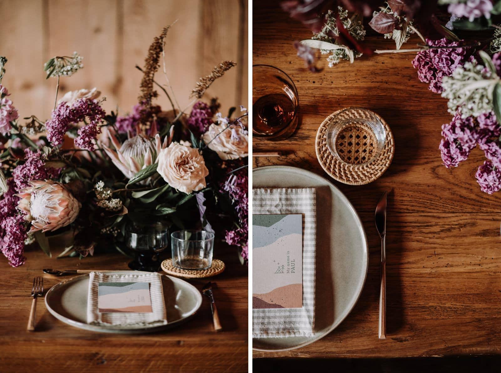 décoration de table bohème