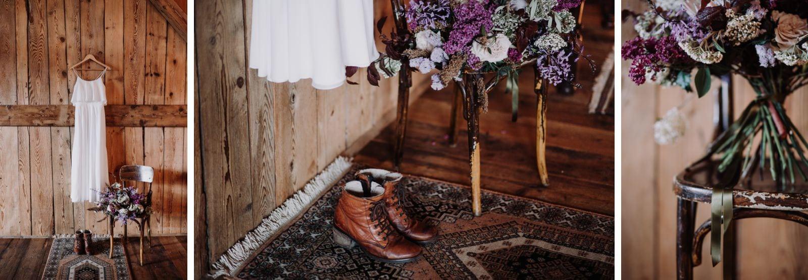 détails de mariage boheme