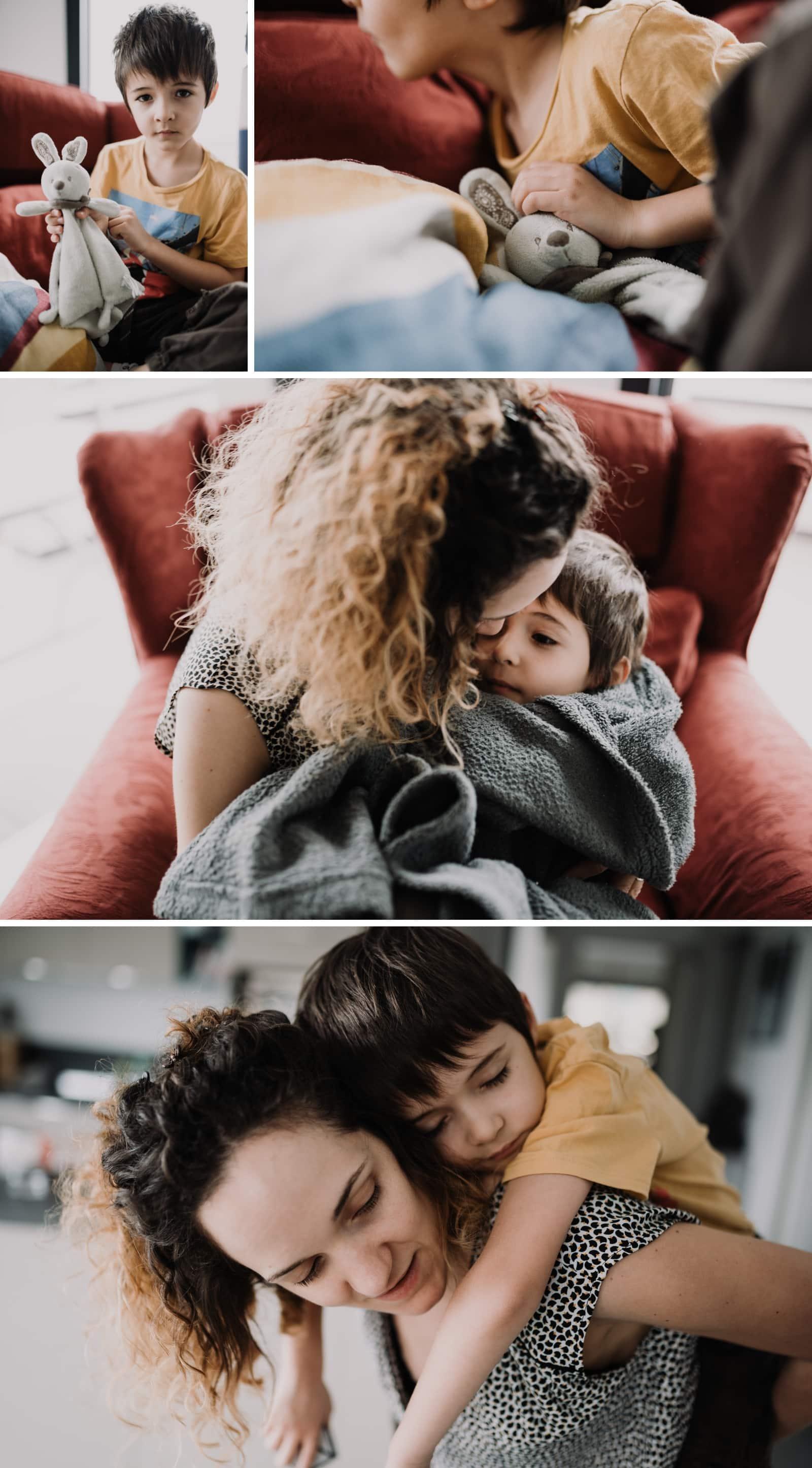 calins avec maman
