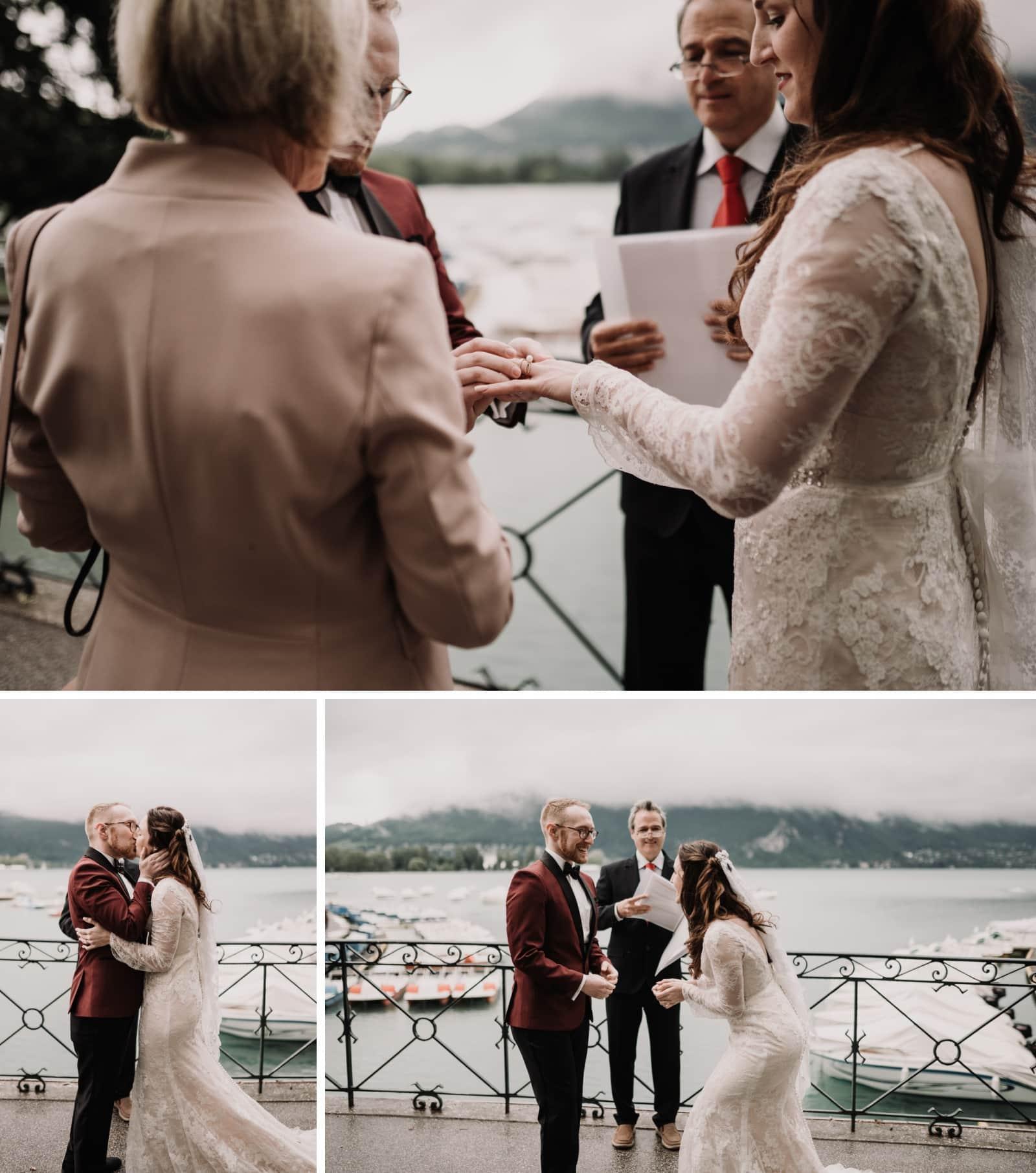 premier baiser mariage annecy