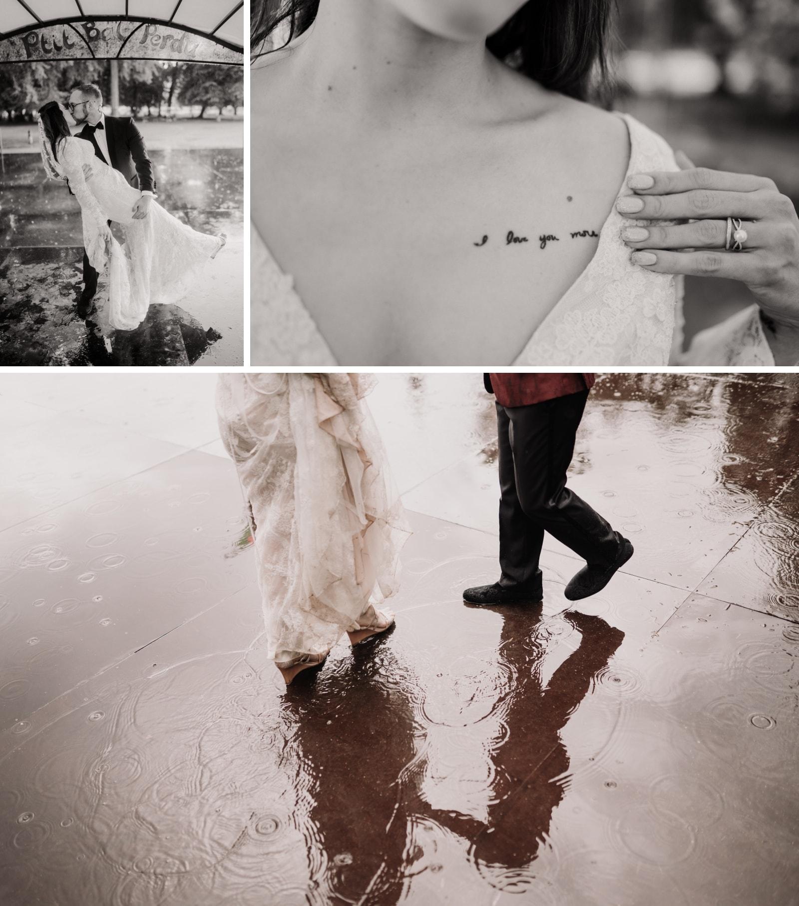 danse sous la pluie mariage