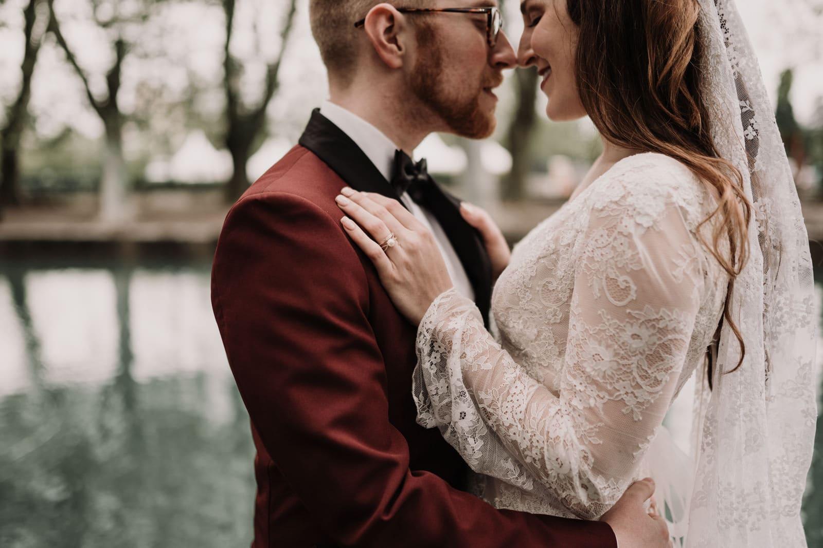 elopement boheme au pont des amours annecy