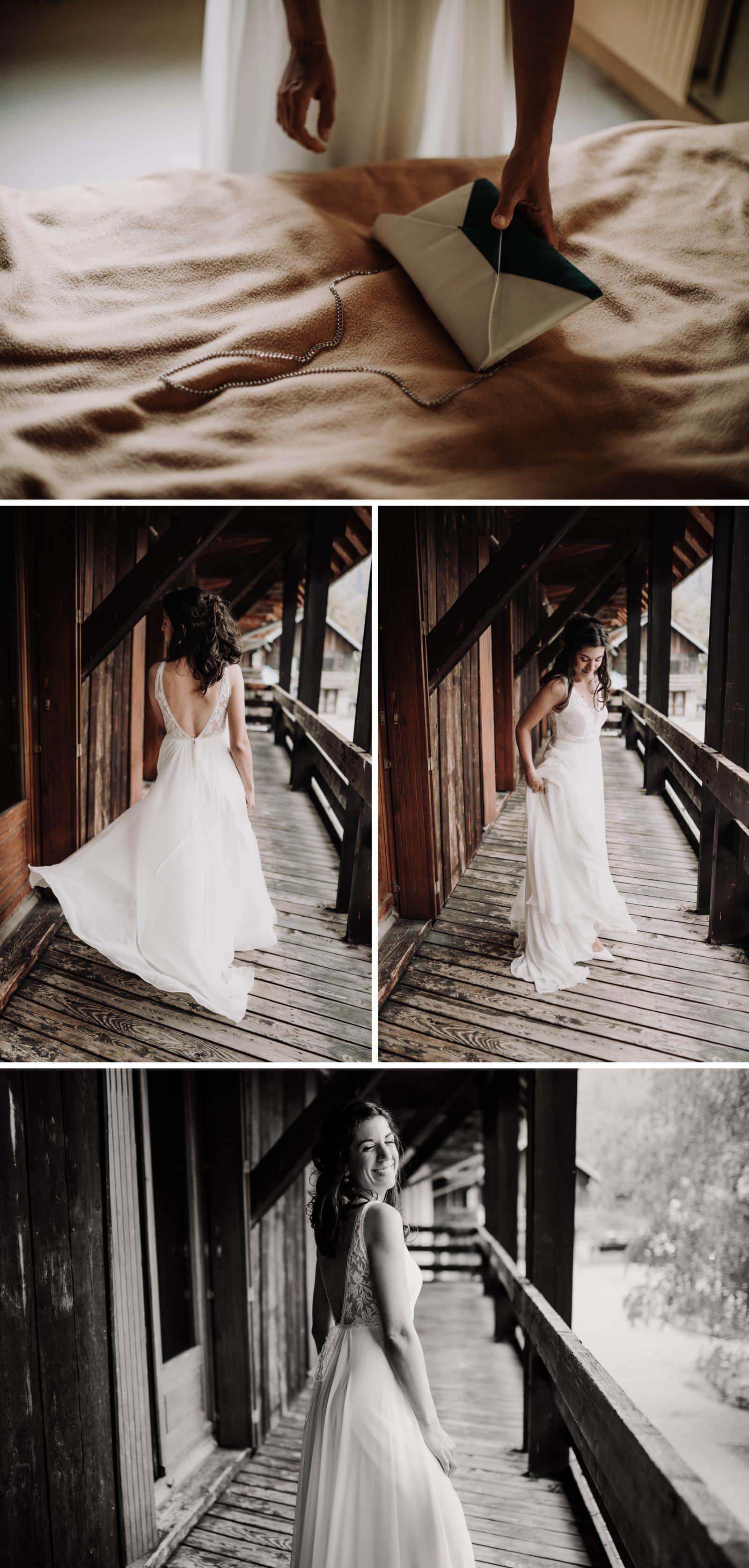 portrait de mariée en savoie