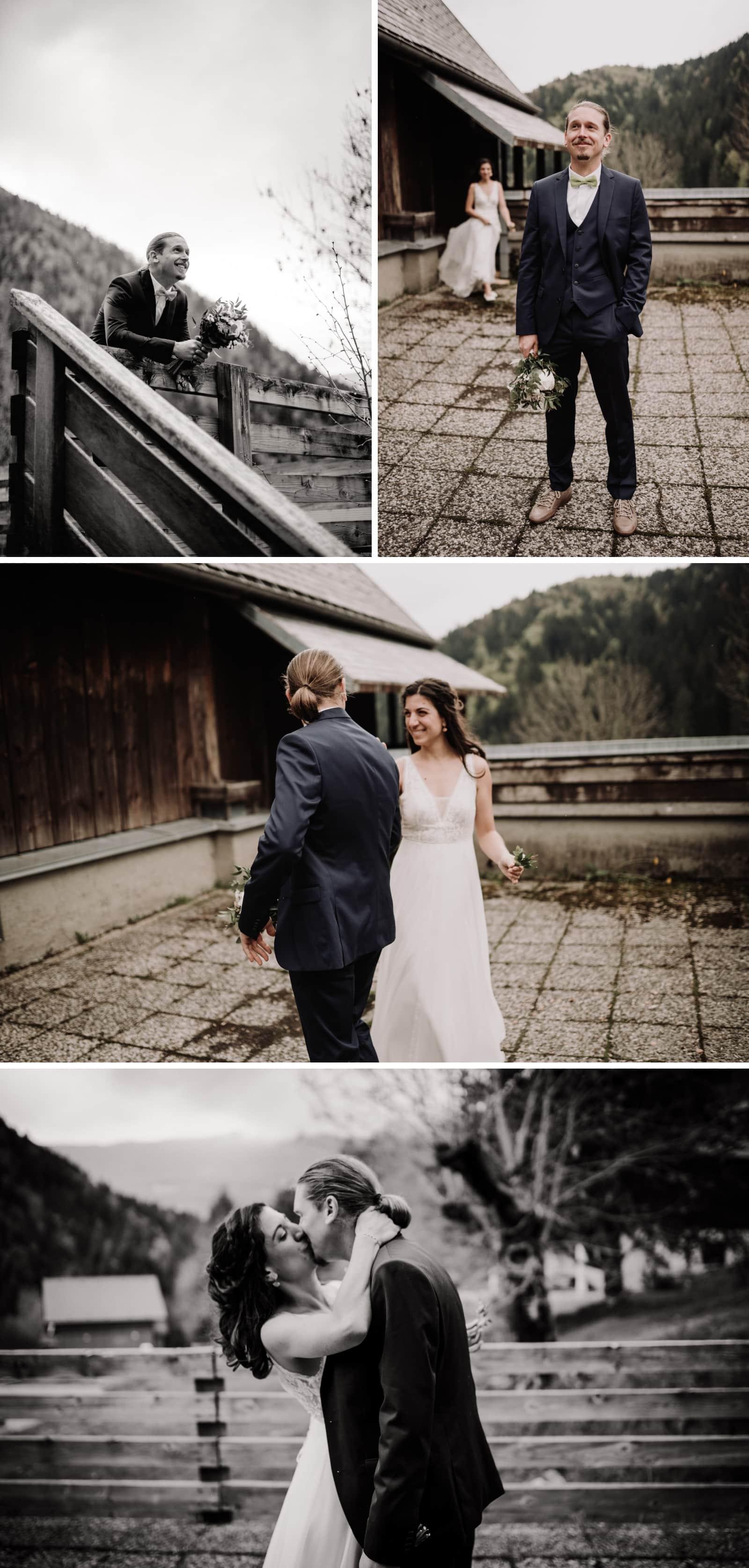 découverte des mariés