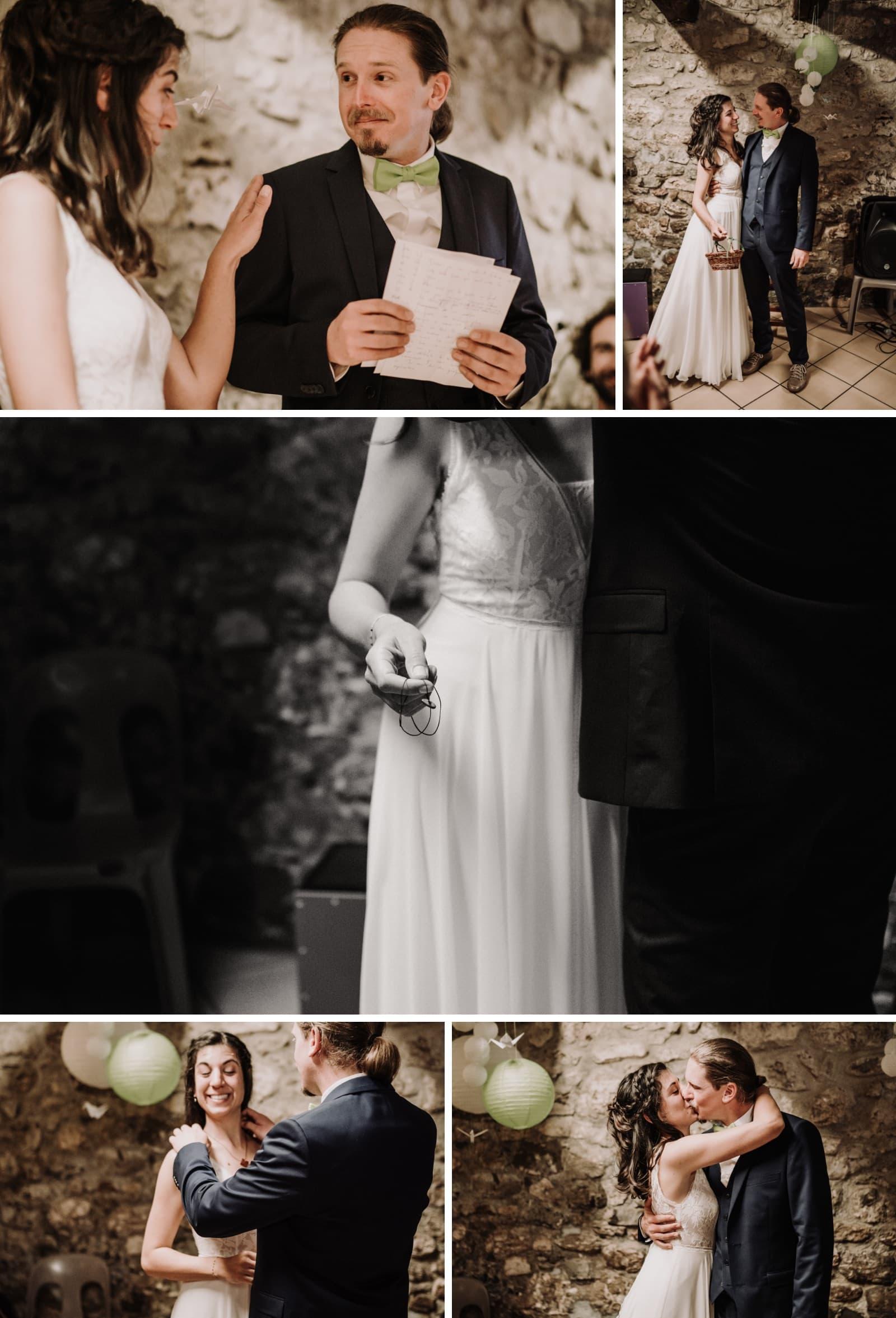 premier baiser mariés