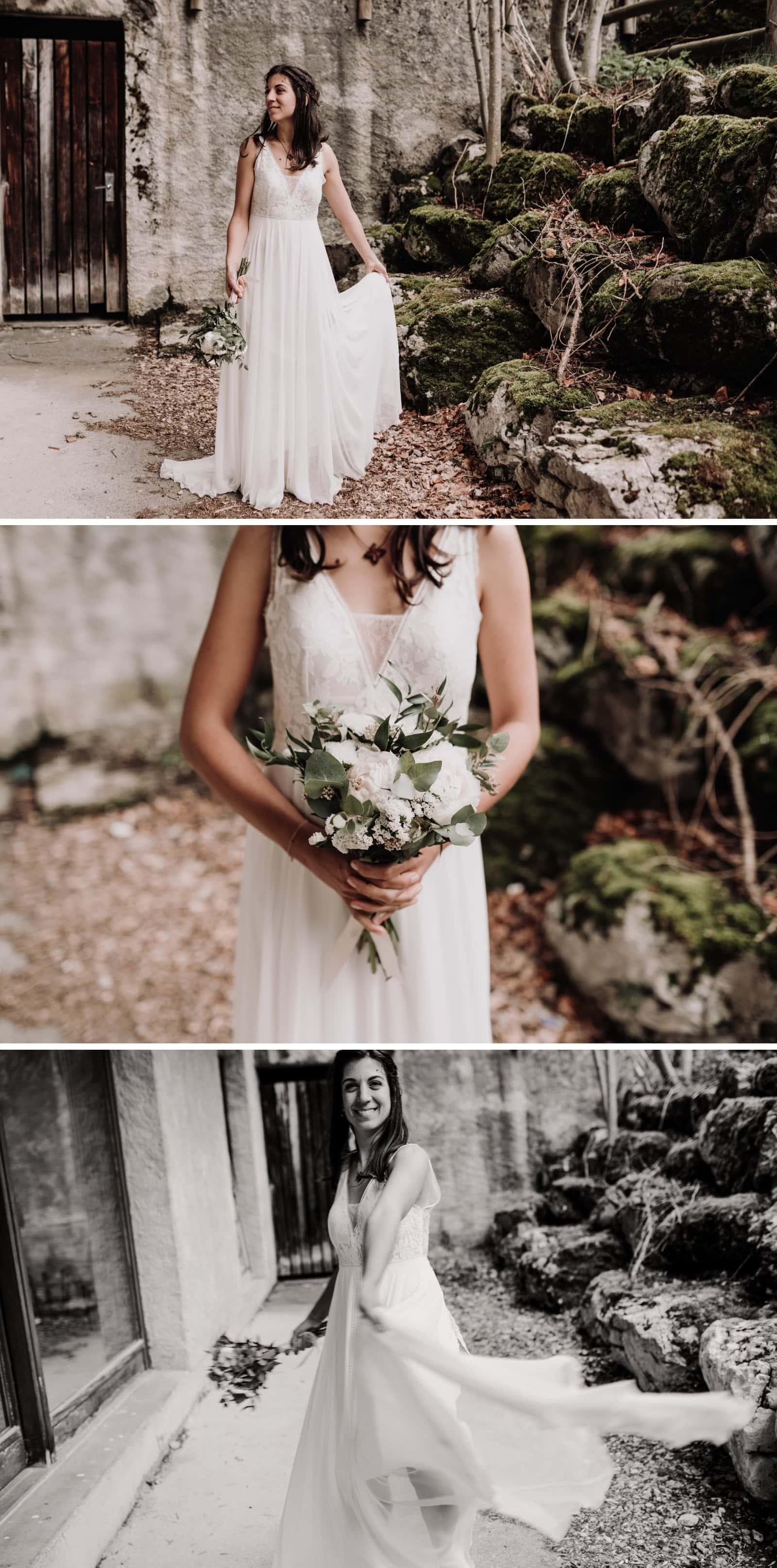 mariée rustique à la ferme
