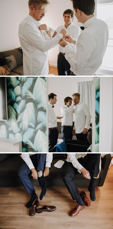 photos préparatifs marié