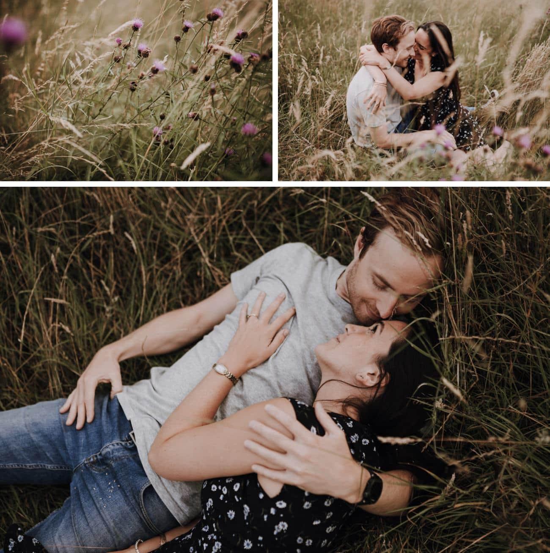 amour dans les champs