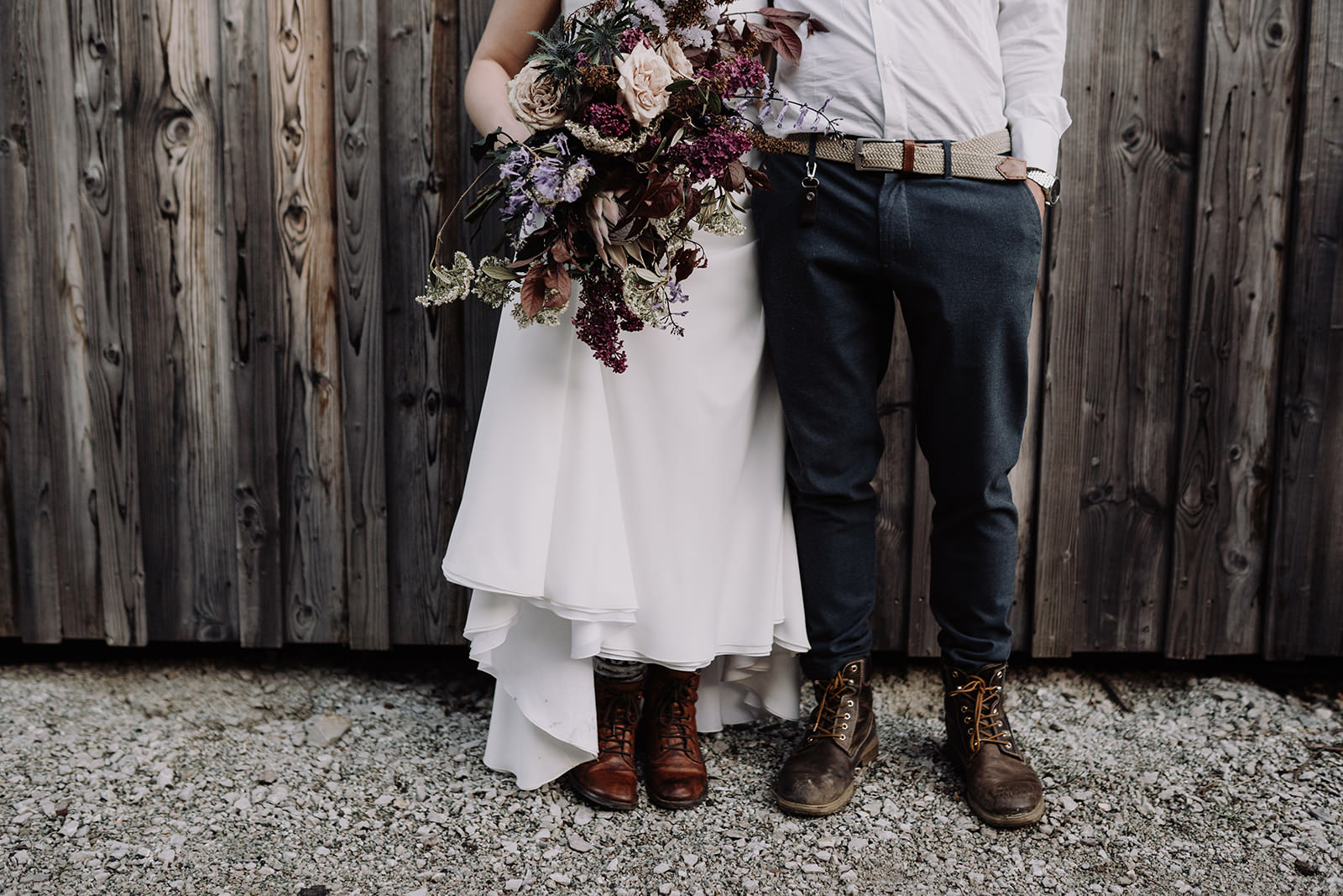 boho elopement in the alps