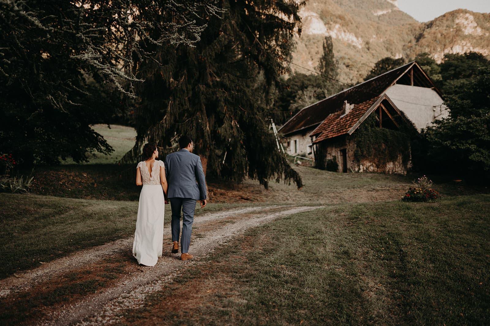 Séance photo de couple en mariage